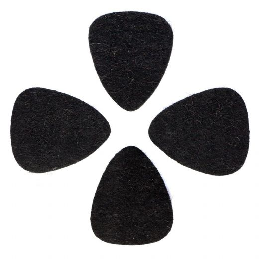Felt Tones Black Wool Felt 4 Guitar Picks